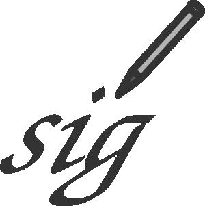 Signature Clip Art at Clker.com.