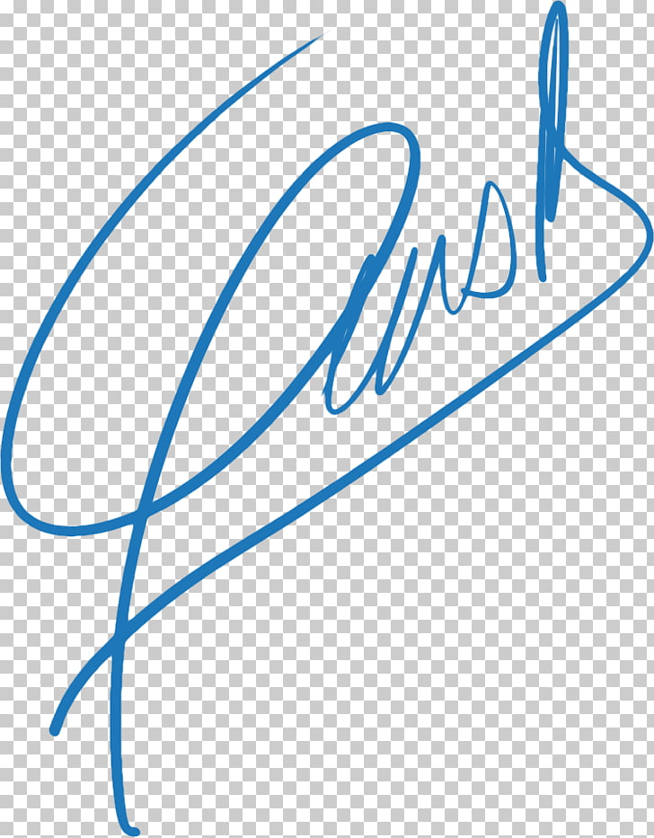 Blue Signature Text Document, primary color PNG clipart.