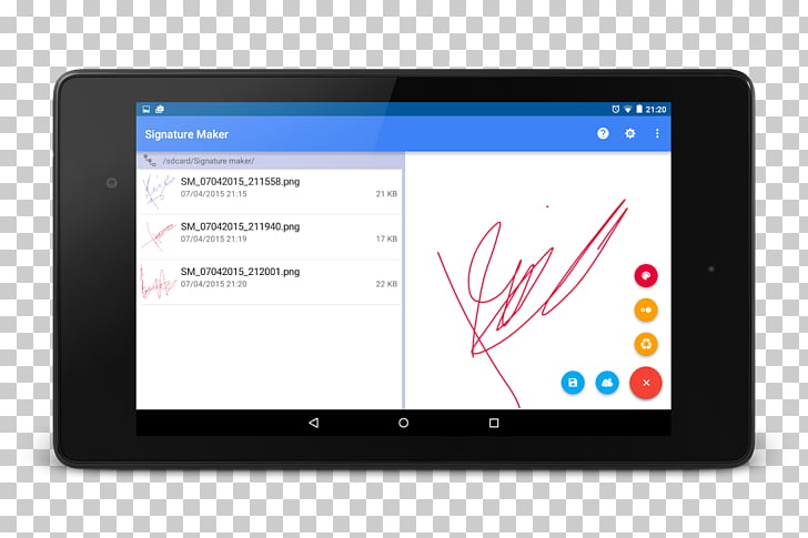 Tablet Computers Android, signature email PNG clipart.