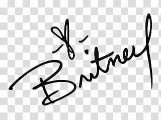 Famous signatures in, Britney signature transparent.