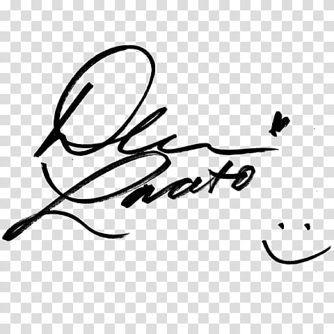Famous signatures in, person\'s signature transparent.