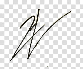 Famous signatures in, black W illustration transparent.