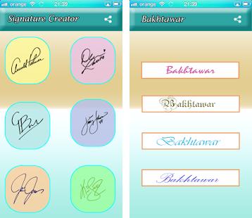 Signature Creator App.