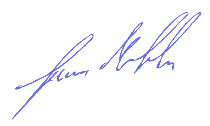 My signature… my promise, not presence!.