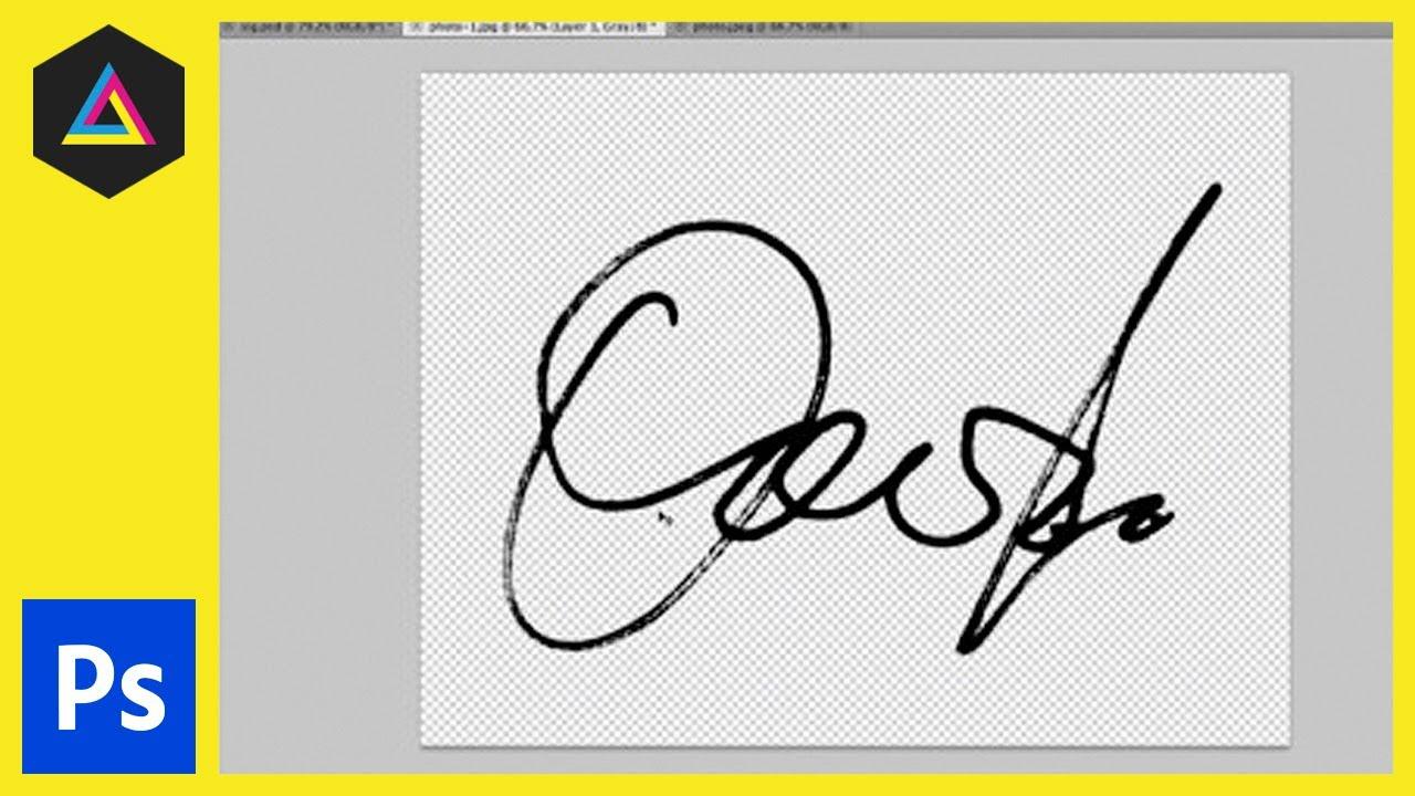 Create a Digital Signature in Adobe Photoshop: Colour Range Tool & Minimum  Tool.
