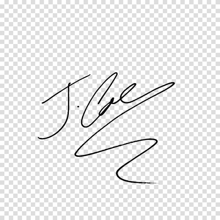 Signature , J. Cole Signature transparent background PNG.