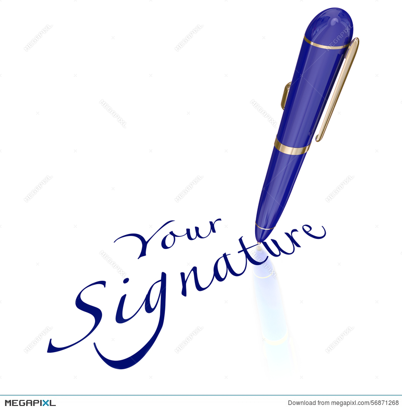 Your Signature Pen Signing Name Autograph Illustration.