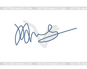 Signature . Template for office docu.
