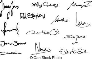 Handwritten signature Stock Illustrations. 995 Handwritten.
