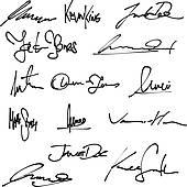 Signatures Clip Art.