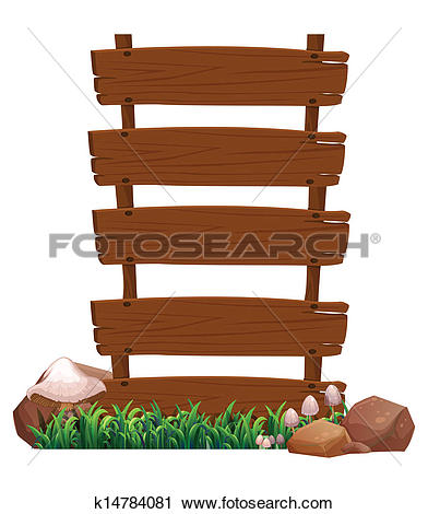 Clipart of A mango stand with a wooden signboard k14067544.