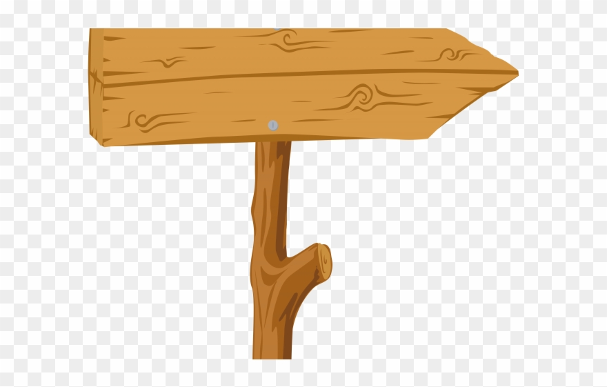 Wood Clipart Sign Board.