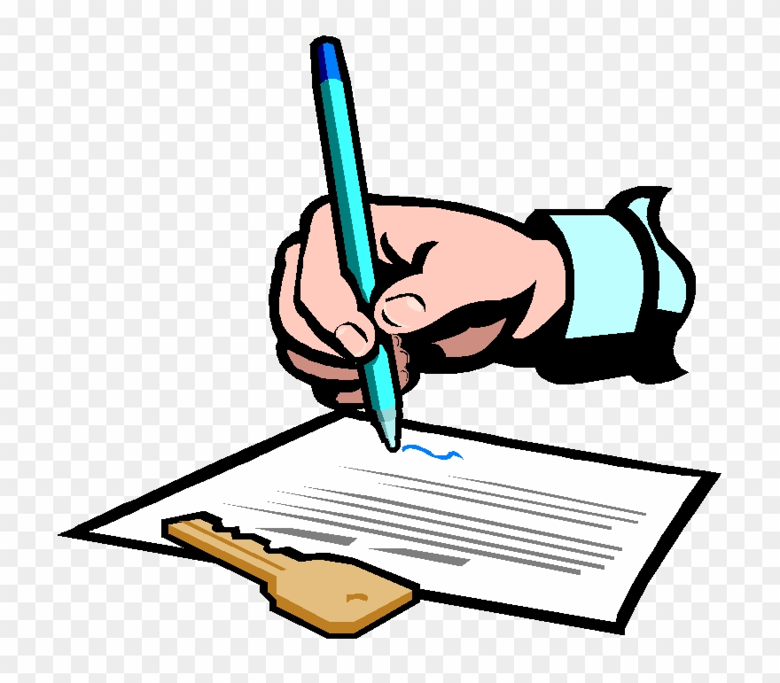 Signed Contract Clipart.
