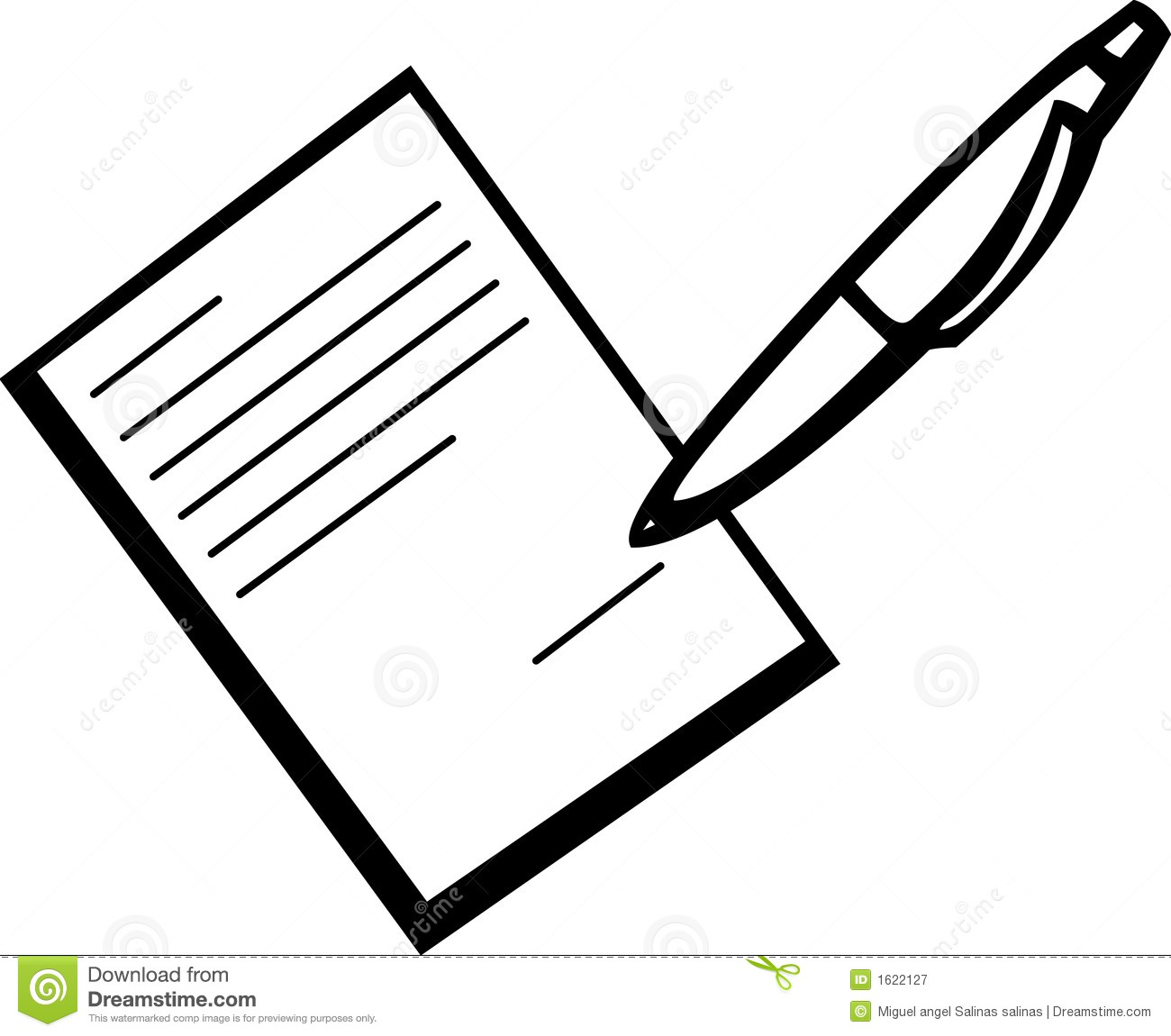 Signing paper clipart.