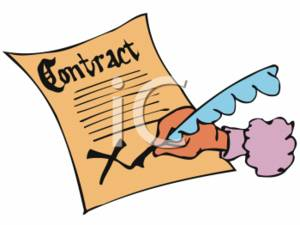 Signing contract clipart.