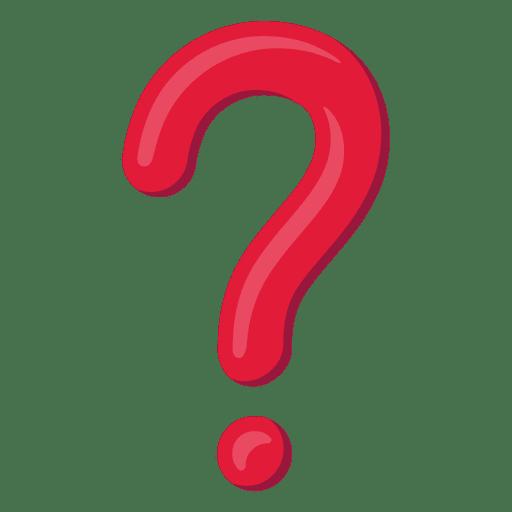 Icono rojo del signo de interrogación 3d.
