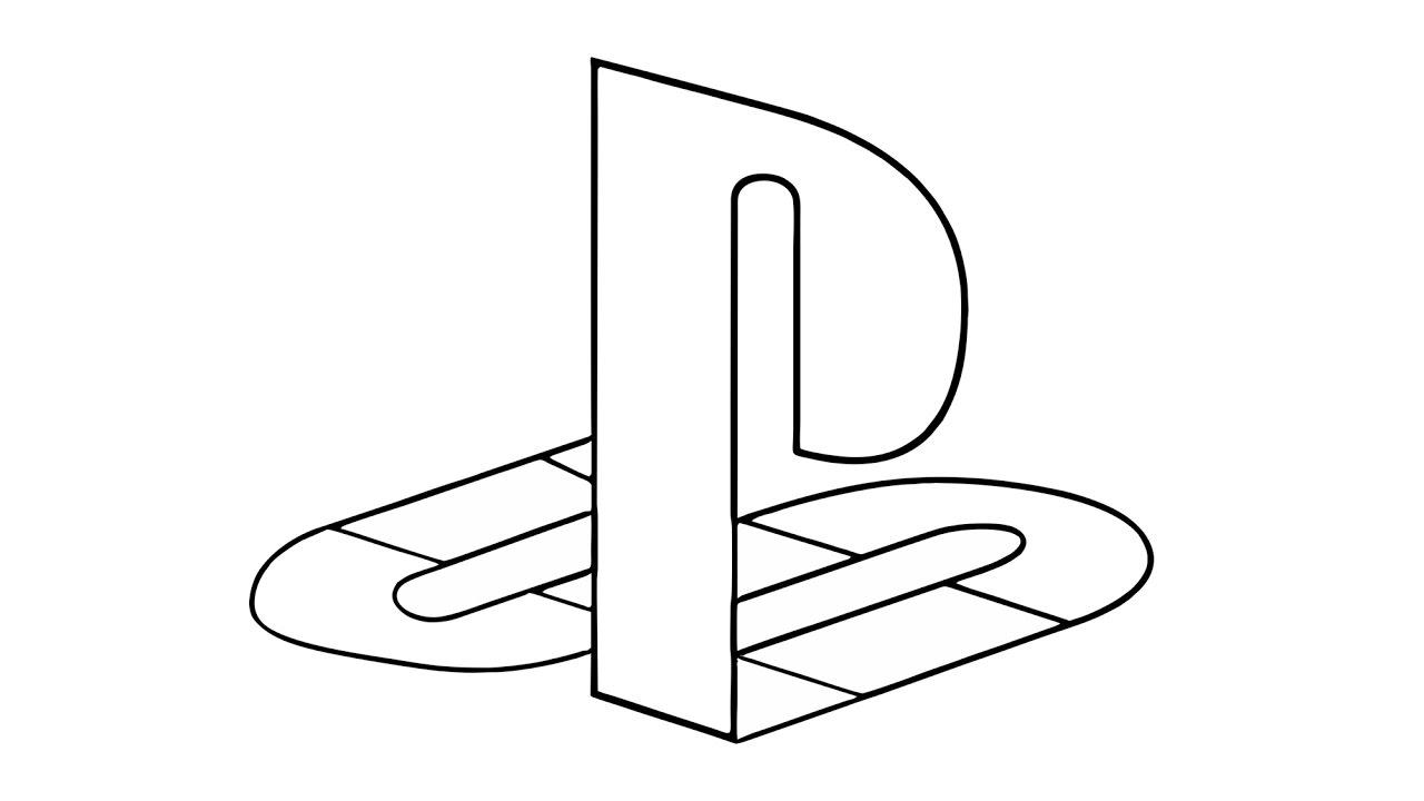 Cómo dibujar el logotipo de PlayStation (símbolo).