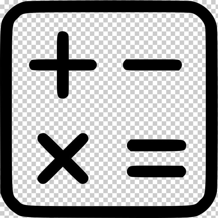 Iconos de computadora signos de más y menos matemáticas.