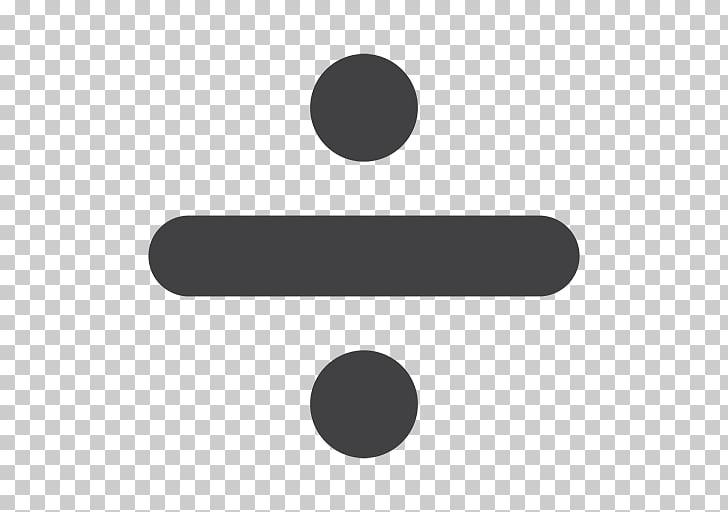 Obelus división matemáticas símbolo signo, matemáticas PNG.