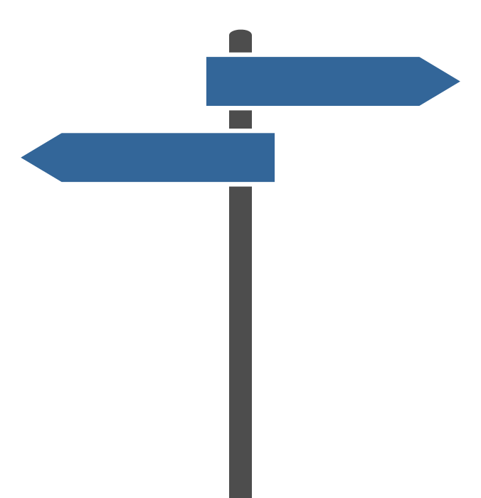 Free Simple Signpost clipart free image.
