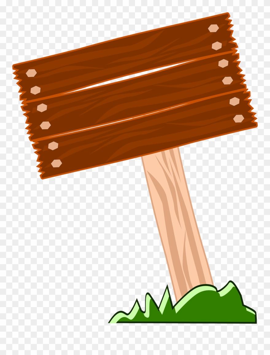 Wood Clipart Signpost.