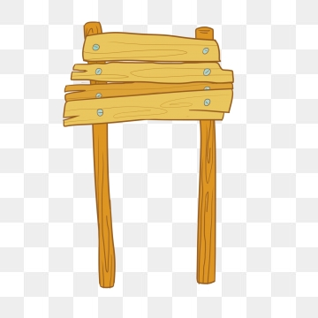 Wooden Signpost PNG Images.