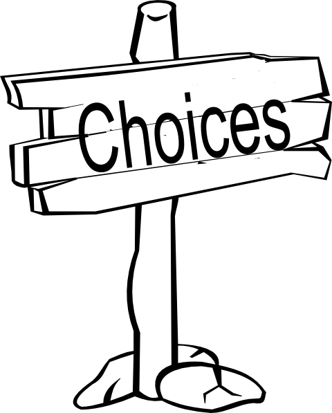 Choices Signpost Clip Art at Clker.com.