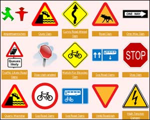 Road signs clip art.