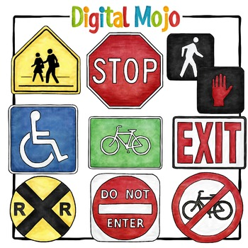 Street Signs Clipart.