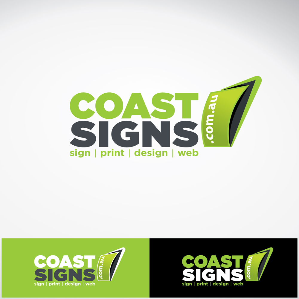Bold, Playful, Printing Logo Design for coast signs .com.au.