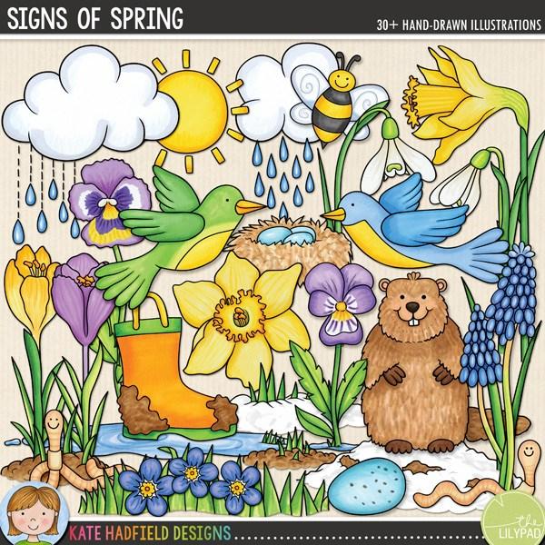 Signs of Spring digital scrapbooking kit.