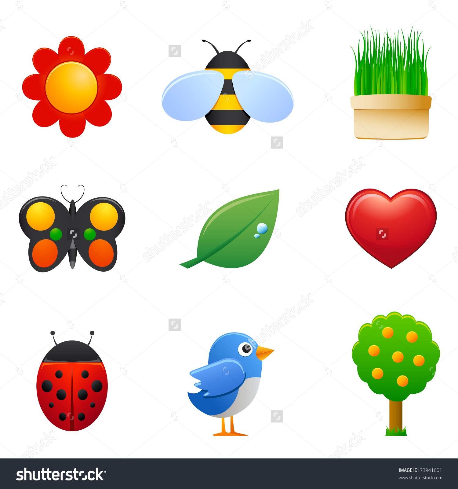 Signs of spring clipart.