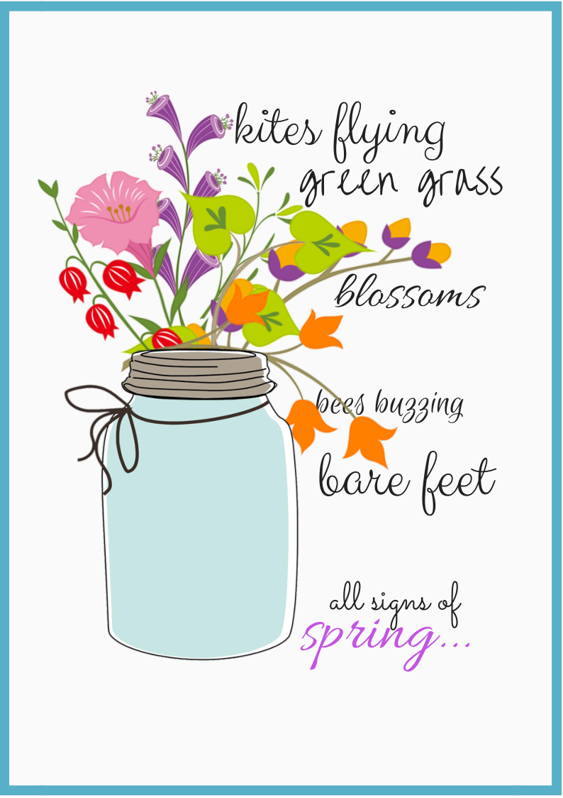 """Signs of Spring"""" FREE Printables."""