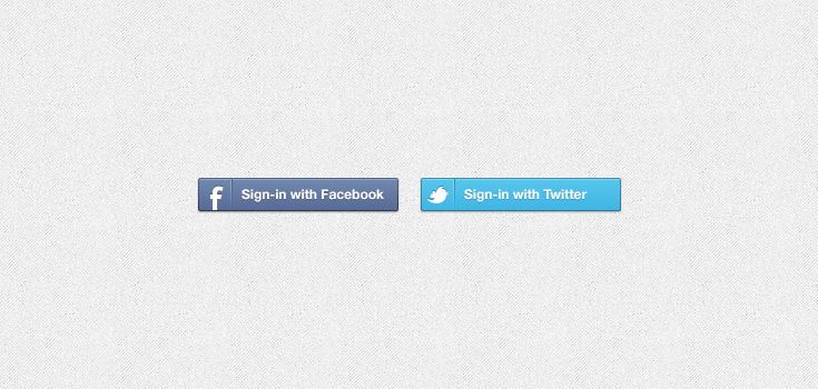 Facebook & Twitter Sign.