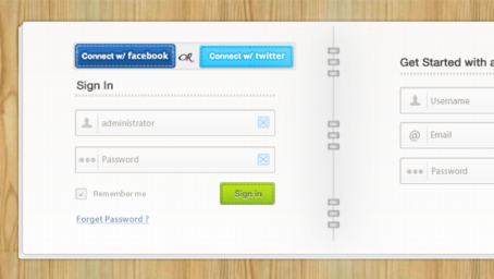 Free Login & Signup Form PSDs Clipart and Vector Graphics.