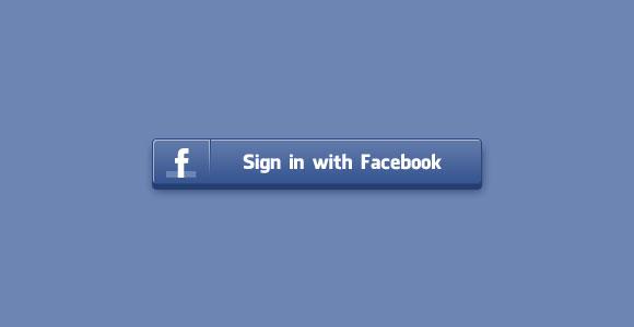 Sign in Facebook PSD button.
