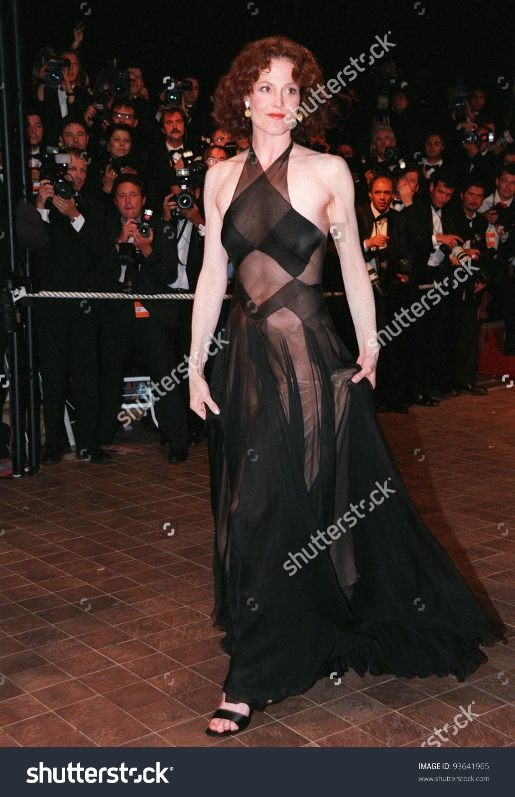15may98 Actress Sigourney Weaver Premiere Fear Stock Photo.