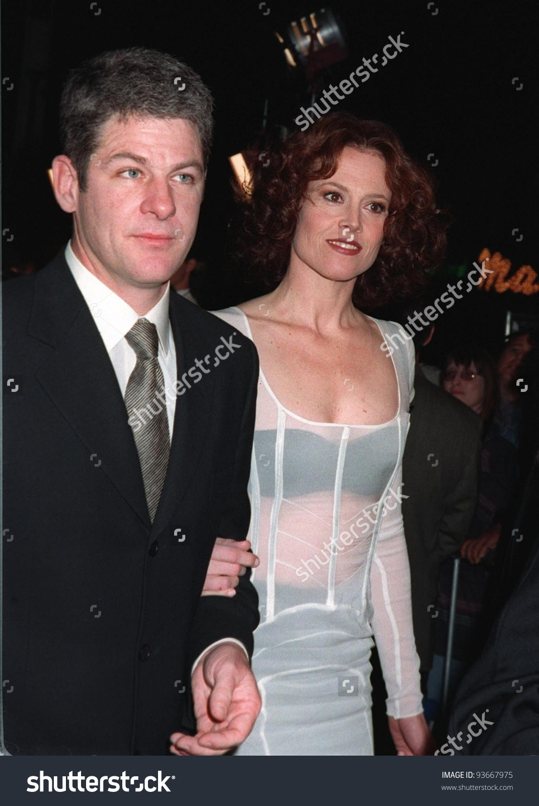 20nov97 Actress Sigourney Weaver Husband Jim Stock Photo 93667975.
