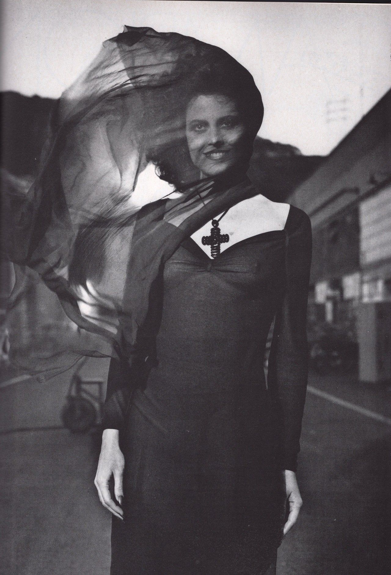 Sigourney Weaver for Vogue Italia 1983 shot by Helmut Newton.
