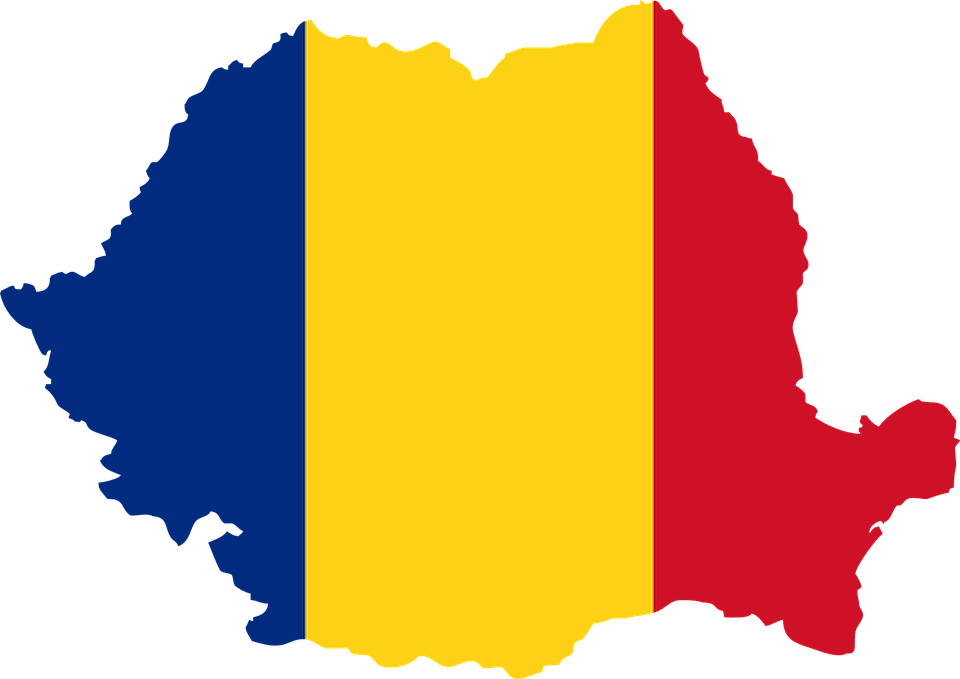 Free vector graphic: Romania, Flag, Country, Map.
