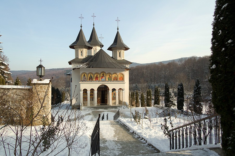 Winter at Sihastria Monastery.