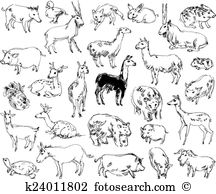 Sika Clipart Illustrations. 11 sika clip art vector EPS drawings.