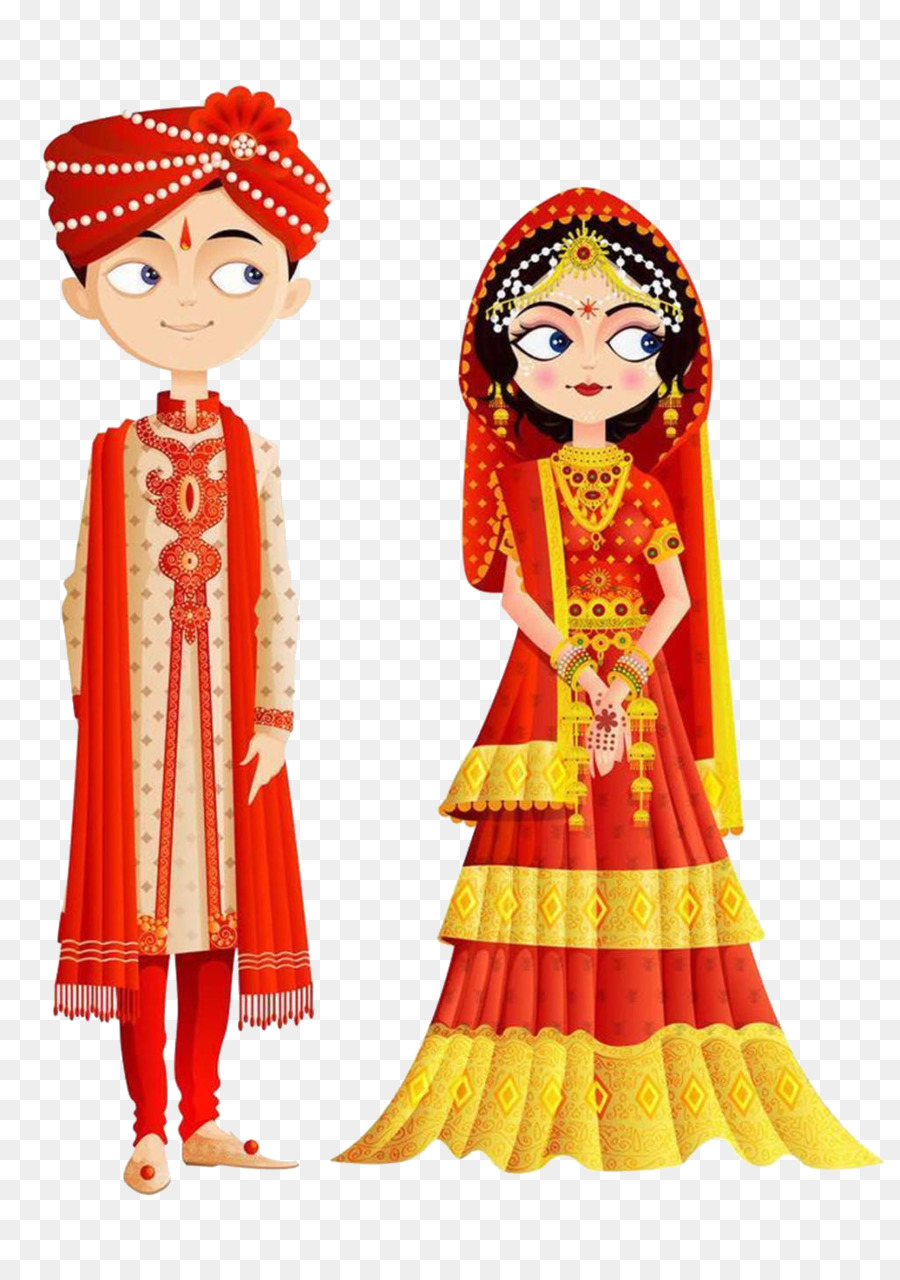 Indian Wedding Invitation Clipart.
