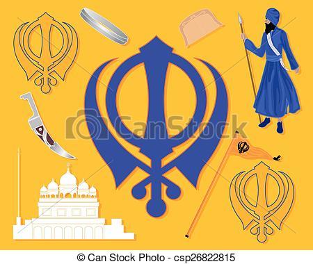 Vector Clip Art of sikh history.