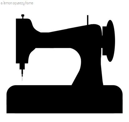 Sewing Machine Silhouette Graphic: Free Download.