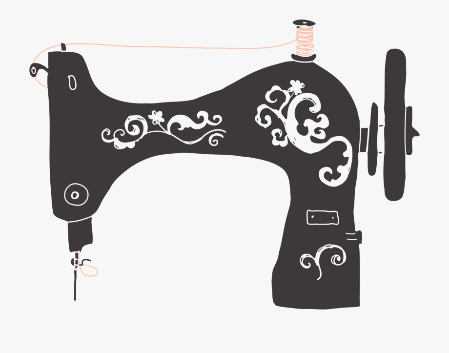 Antique Sewing Machine Clip Art.