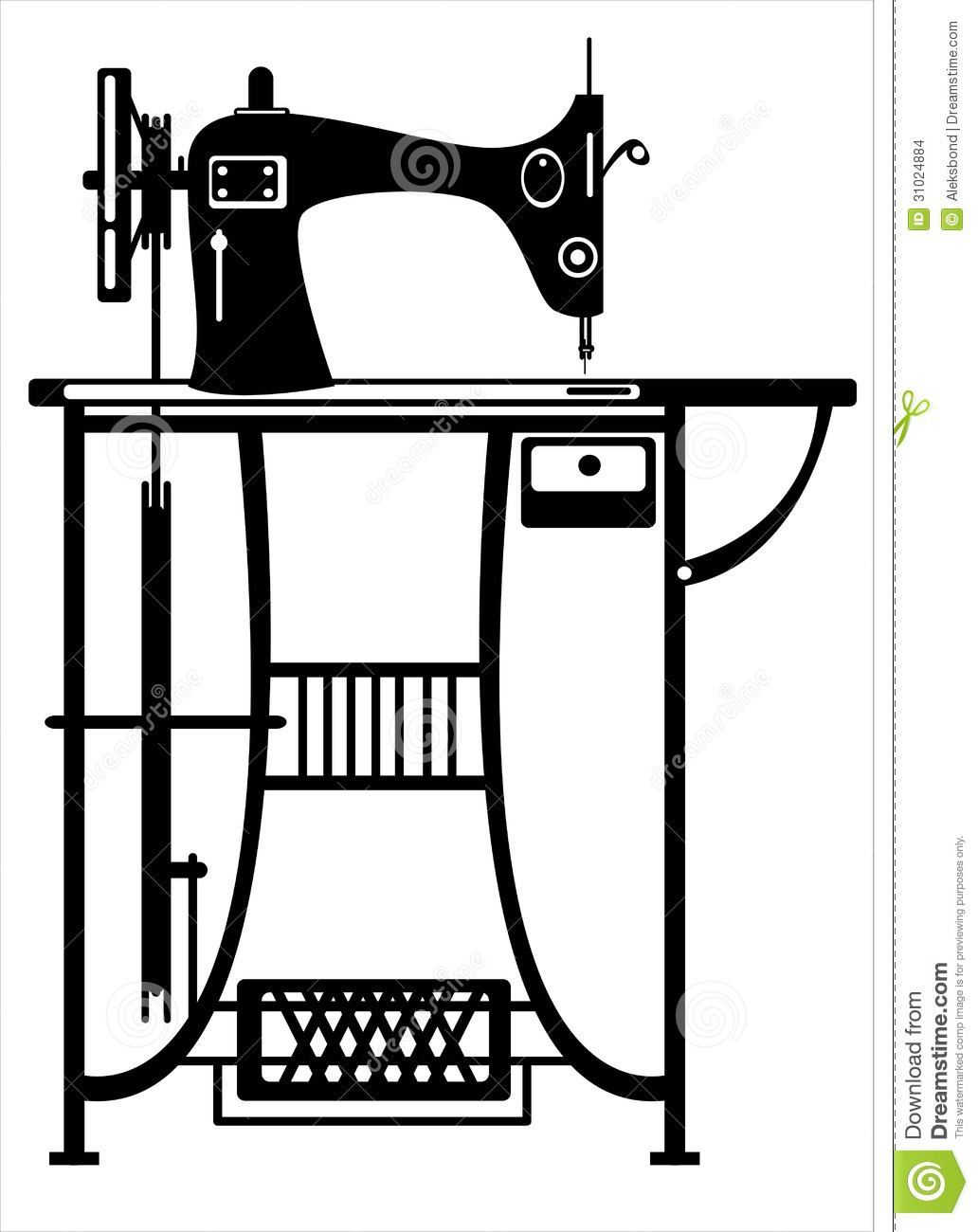 759 Sewing Machine free clipart.