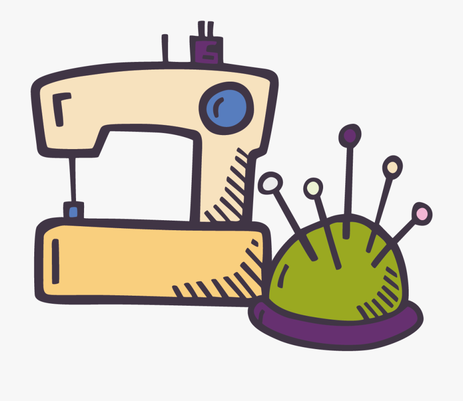 Sewing Machine Doodle , Png Download.