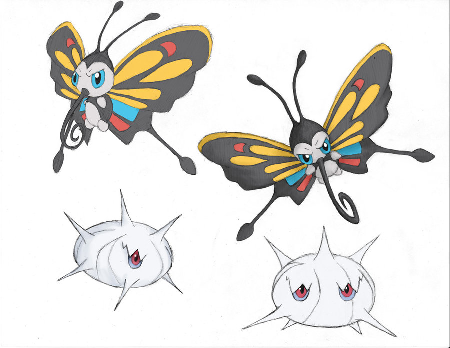 Beautifly and Silcoon Sketches by YoSoWhenItSnows on DeviantArt.