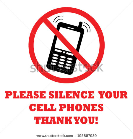 Please Silence Your Cell Phone Sign Stock Vector 195887939.